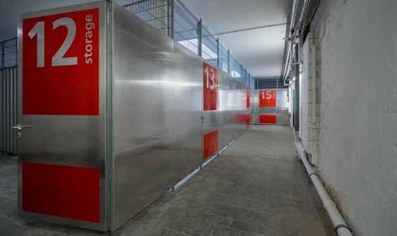 Aussenansicht Zugang Zu Lagerboxen Mieten